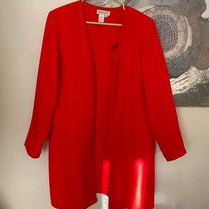 Vintage red long blazer